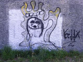 Gesehen an einer Wand in der Gaßneralle, in Mainz, Ende 06/2020 (inzw. wieder entfernt)