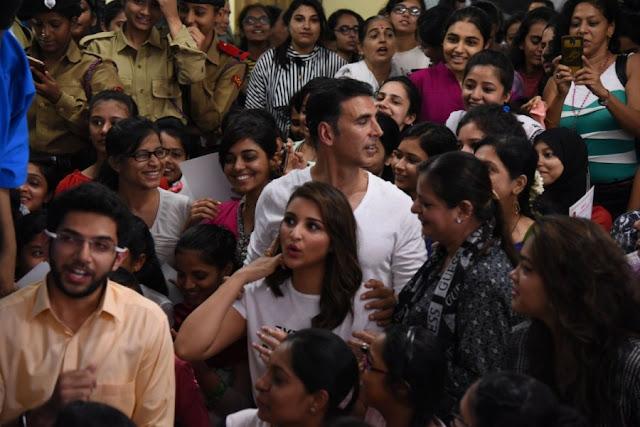 Akshay, Aditya Thackeray And Parineeti Chopra At Women Self Defence Graduation Day