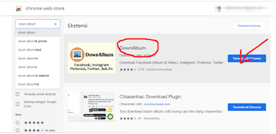 mendownload downalbum dari chrome webstore