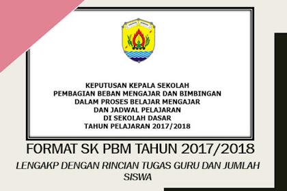 Resmi Format SK PBM Untuk Tahun 2017/2018 Terbaru