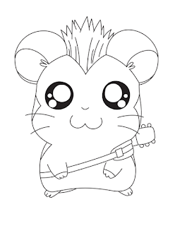 Hamtaro And Guitar Adorable Animal Coloring Pages