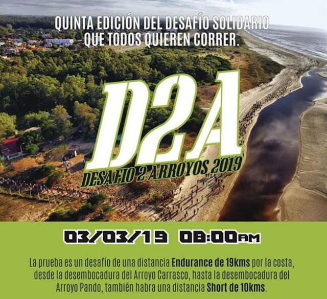 19k y 10k Desafío Dos Arroyos de Halcones (desde Arroyo Carrasco a Arroyo Pando, 03/mar/2019)