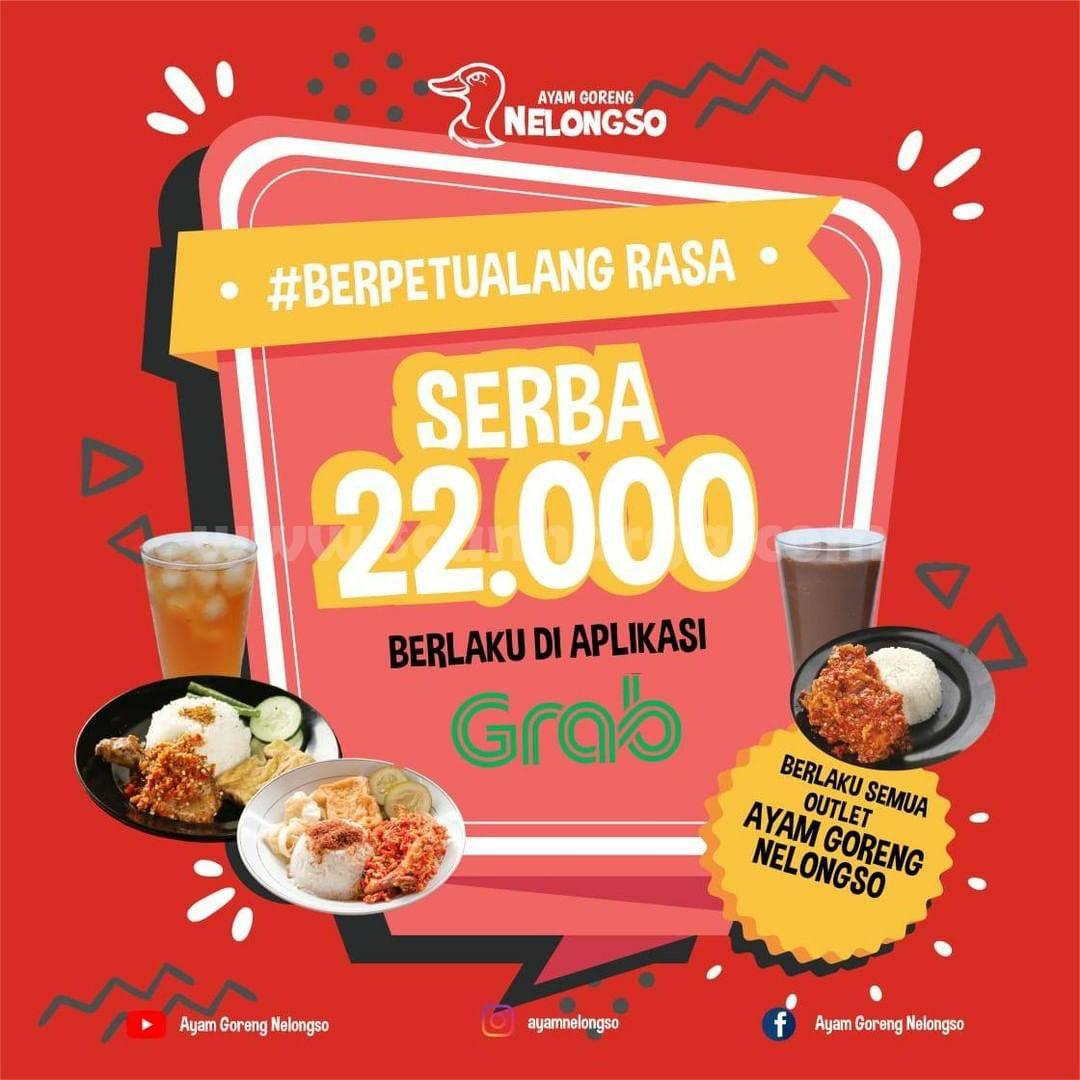 AYAM NELONGSO Promo GRABFOOD PAKET SERBA 22.000