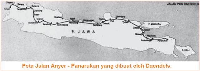 kerja rodi untuk jalan raya Anyer - Panarukan sepanjang 1.000 km