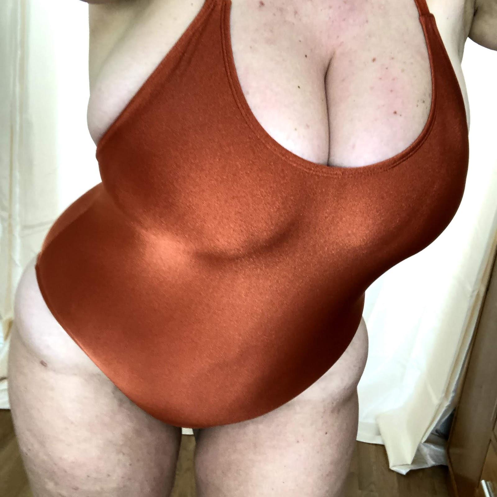 Forever 21+ Crisscross Rust Swimsuit