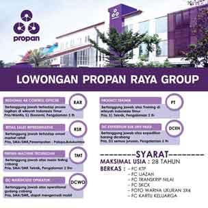 Lowongan Pekerjaan PT. Propan Raya I.C.C Makassar