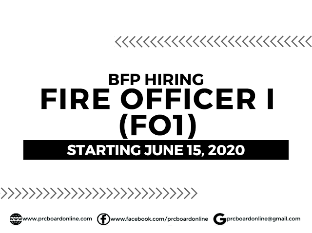 BFP Hiring Nationwide: Fire Officer I (FO1)