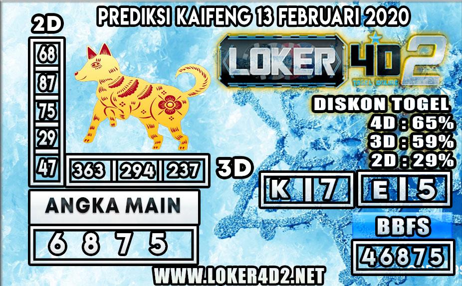 PREDIKSI TOGEL KAIFENG LOKER4D2 13 FEBRUARI 2020