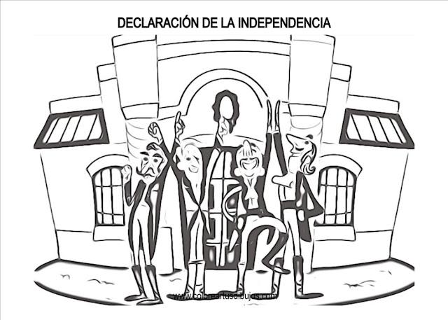 DESCARGA GRATIS DIBUJOS PARA COLOREAR 9 DE jULIO