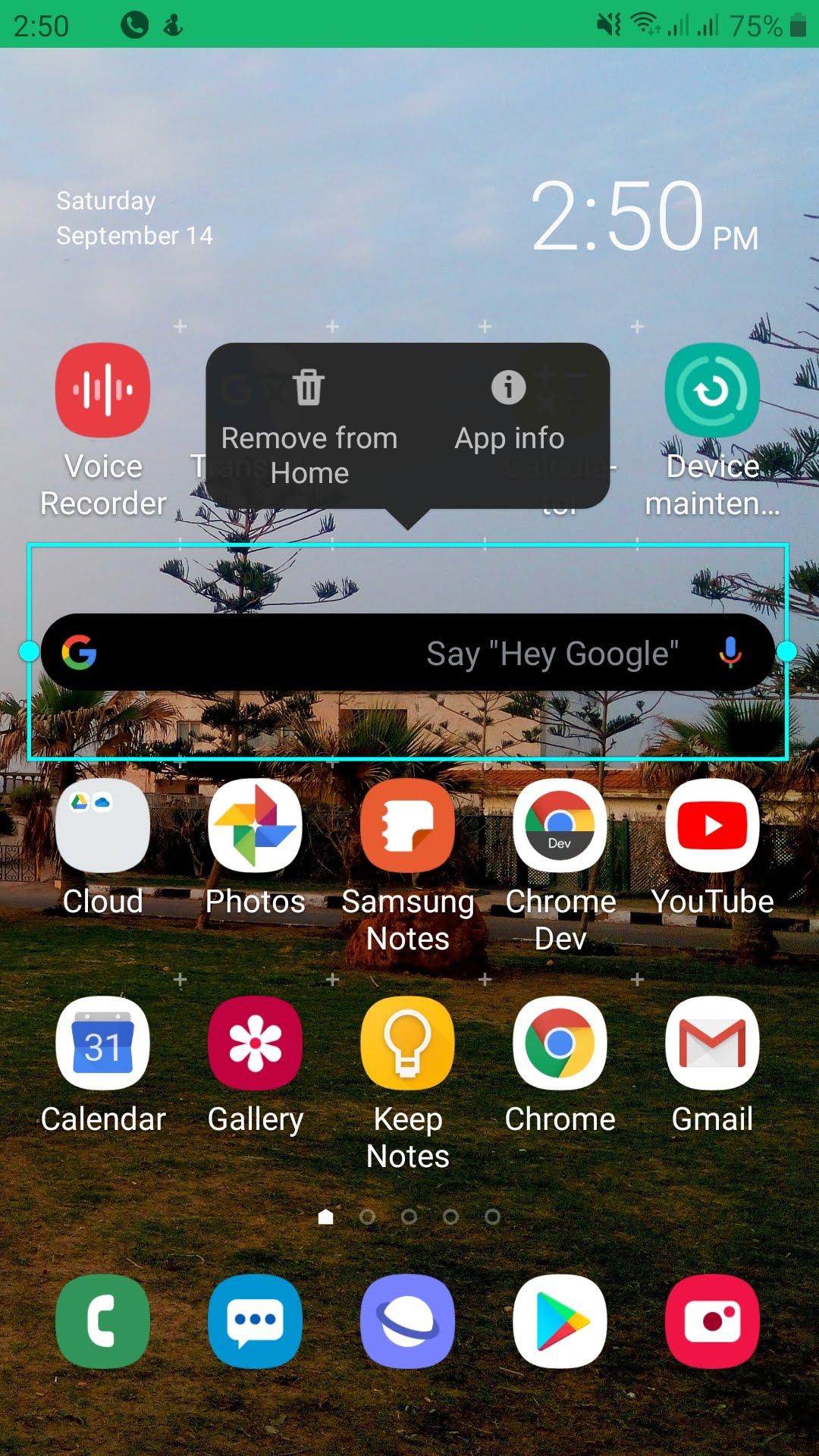 فتح معلومات تطبيق جوجل على هاتف أندرويد