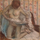 Toilet of a Woman by Edgar Degas - Nude Paintings from Hermitage Museum