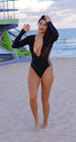 Tao Wickrath Hot Cleavage Pictures in Swimsuit