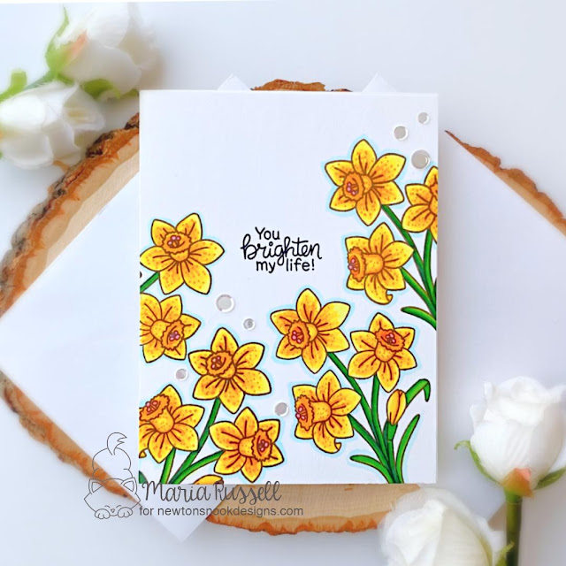 Daffodil Card by Maria Russell | Daffodils Stamp Set by Newton's Nook Designs #newtonsnook #handmade