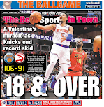 Knicks win game and back page