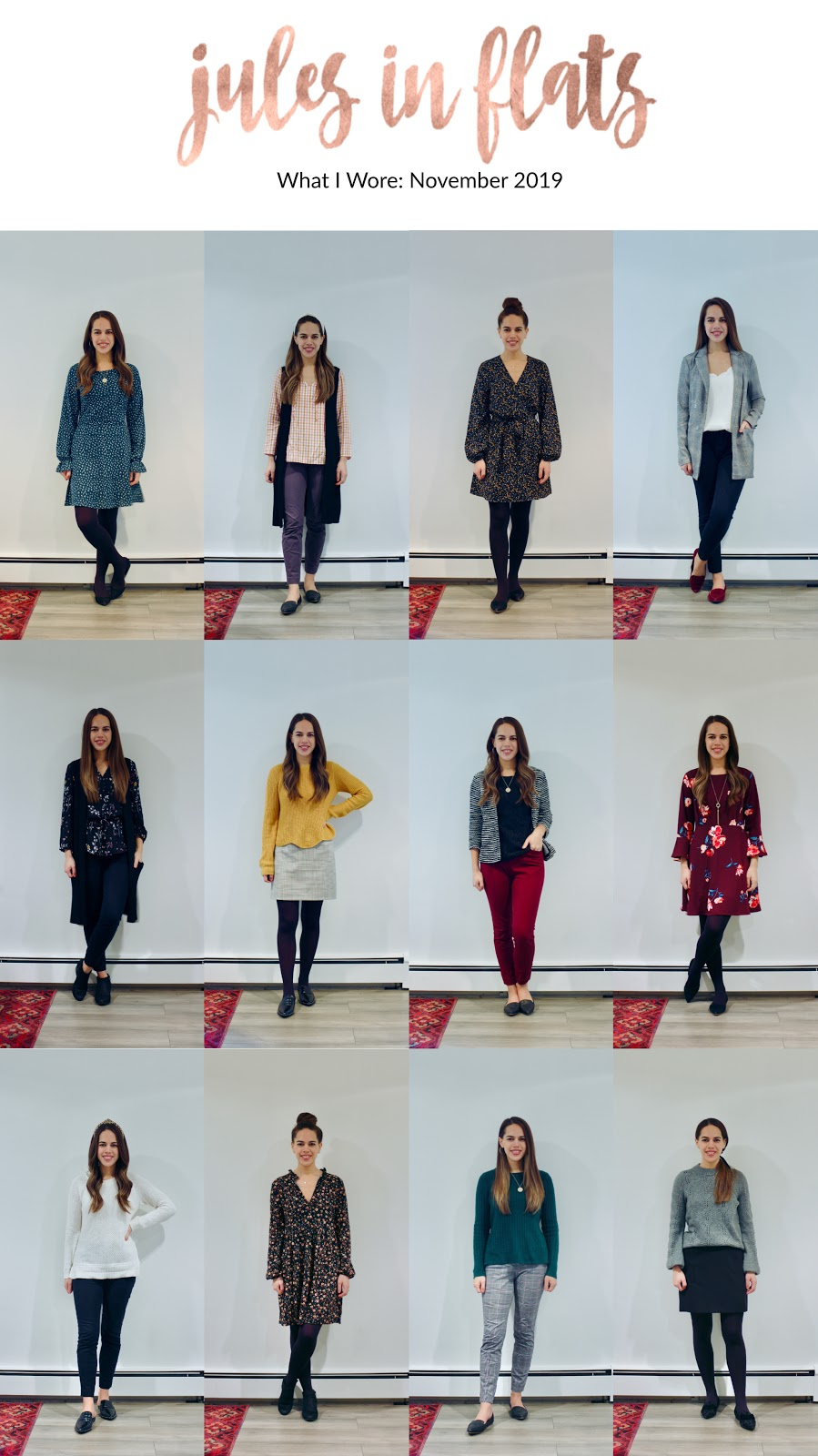 Jules in Flats - Monthly Outfit Roundup: November 2019