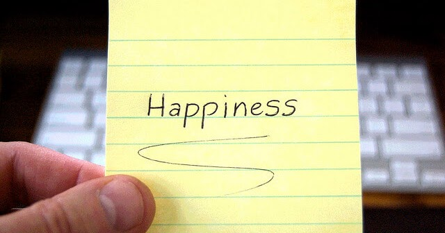 Happiness - Create it, do not go looking for it