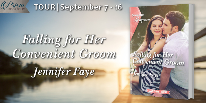 We're launching the Book Tour for FALLING FOR HER CONVENIENT GROOM by Jennifer Faye!