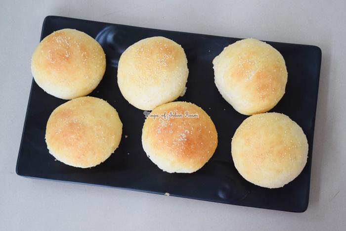 Homemade Sweet Maska Bun - Milk Bread Buns Recipe - मिल्क स्वीट बन  रेसिपी - Priya R - Magic of Indian Rasoi