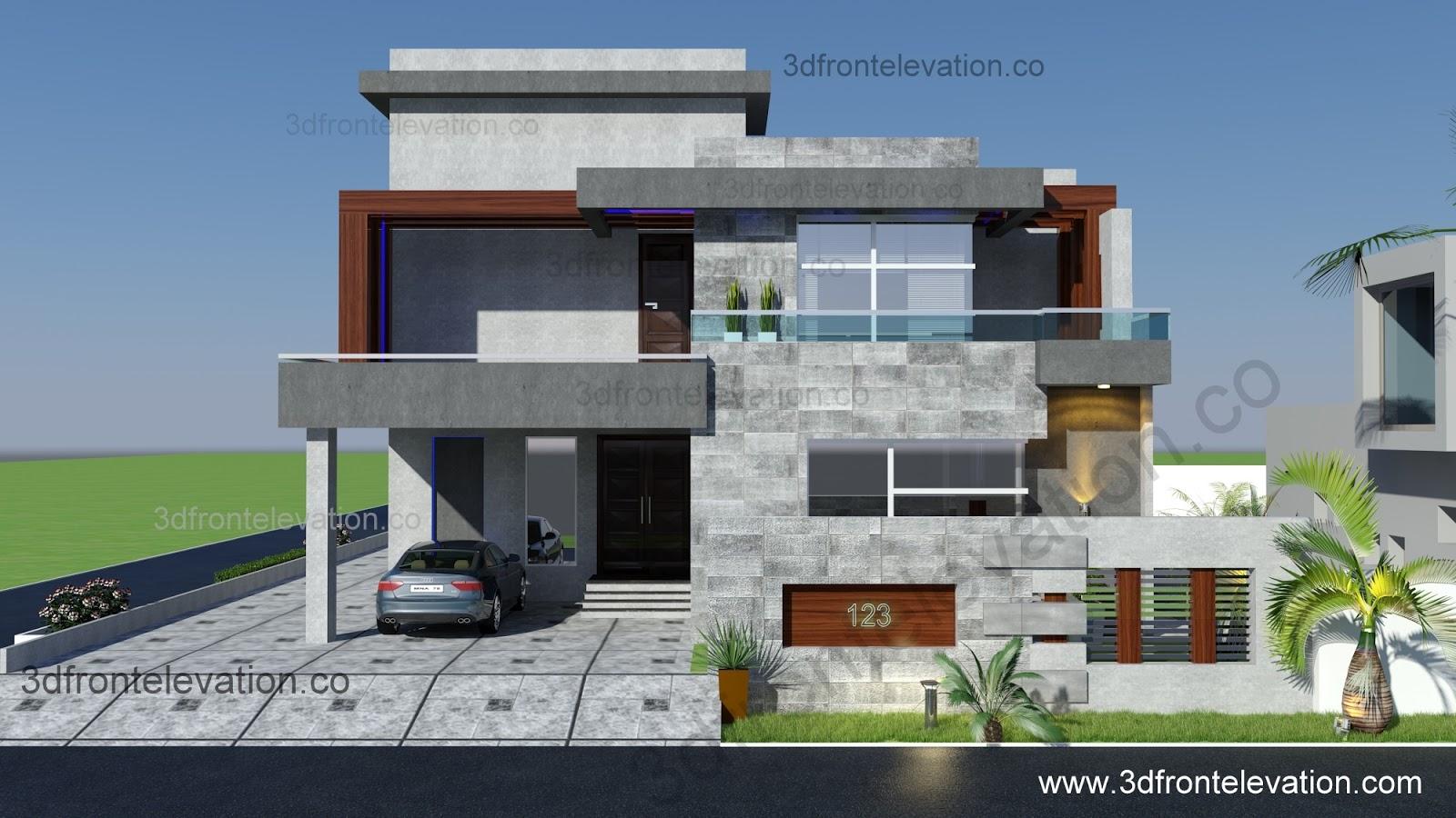 D Front Elevation Software : D front elevation portfolio