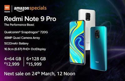 Redmi Note 9 Pro ขายหมดในไม่กี่นาทีบน Amazon India
