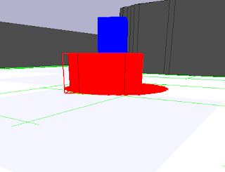 Stage 4.1 software 3D view of pioneer robot.
