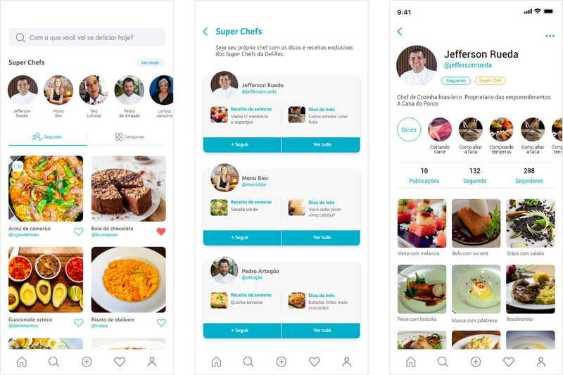 Em um único aplicativo, gratuitamente, qualquer pessoa poderá inserir e armazenar receitas próprias, com descrição do passo a passo, fotos e vídeos; compartilhar suas criações gastronômicas com quem quiser nas redes sociais; e ainda seguir amigos e chefs, organizando em sua timeline suas receitas favoritas