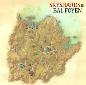 Bal Foyen Skyshards, Elder Scrolls Online,Ebonheart Pact,