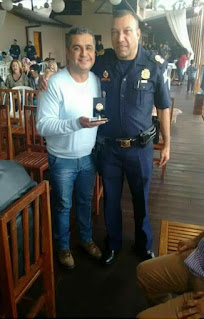 Secretário de segurança pública de Itapevi é homenageado pelo Comandante da GCM de Embú Guaçu