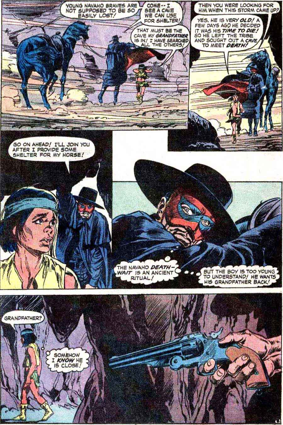 Weird Western Tales v1 #12 dc 1970s bronze age comic book page art by Neal Adams, Bernie Wrightson