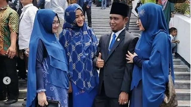 Viral, Lora Fadil Bawa 3 Istri Cantik di Pelantikan DPR