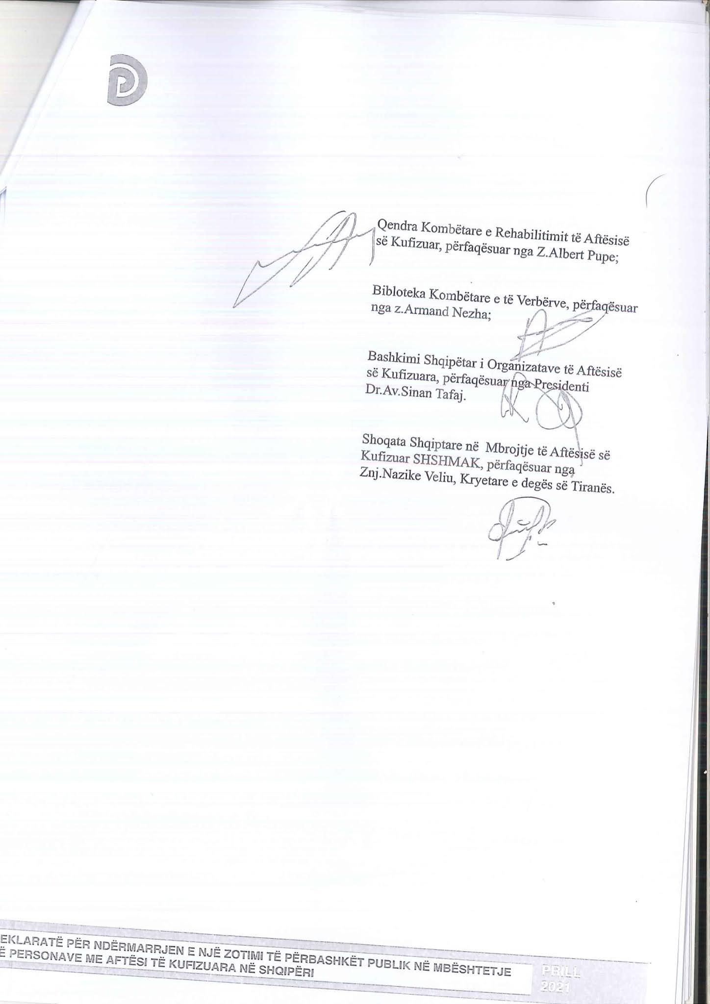 Kopje origjinale e marrëveshjes e skanuar faqja 9