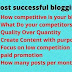 How many blog posts per week for ranking blogging topics