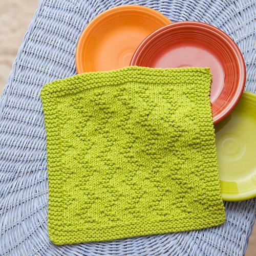 ZigZag Dishcloth - Free Knitting Pattern