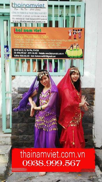 May bán, cho thuê trang phục múa bụng, múa ấn độ quận Tân Phú