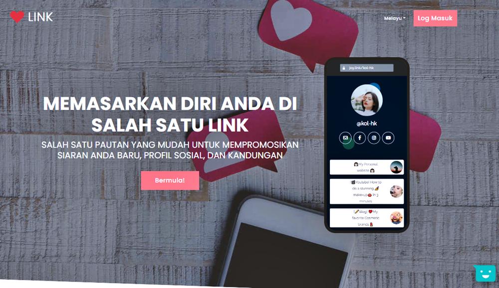 Joy.Link Tools Gabung Pelbagai Link Dalam Satu Halaman
