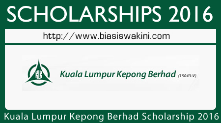 KLK Scholarships 2016
