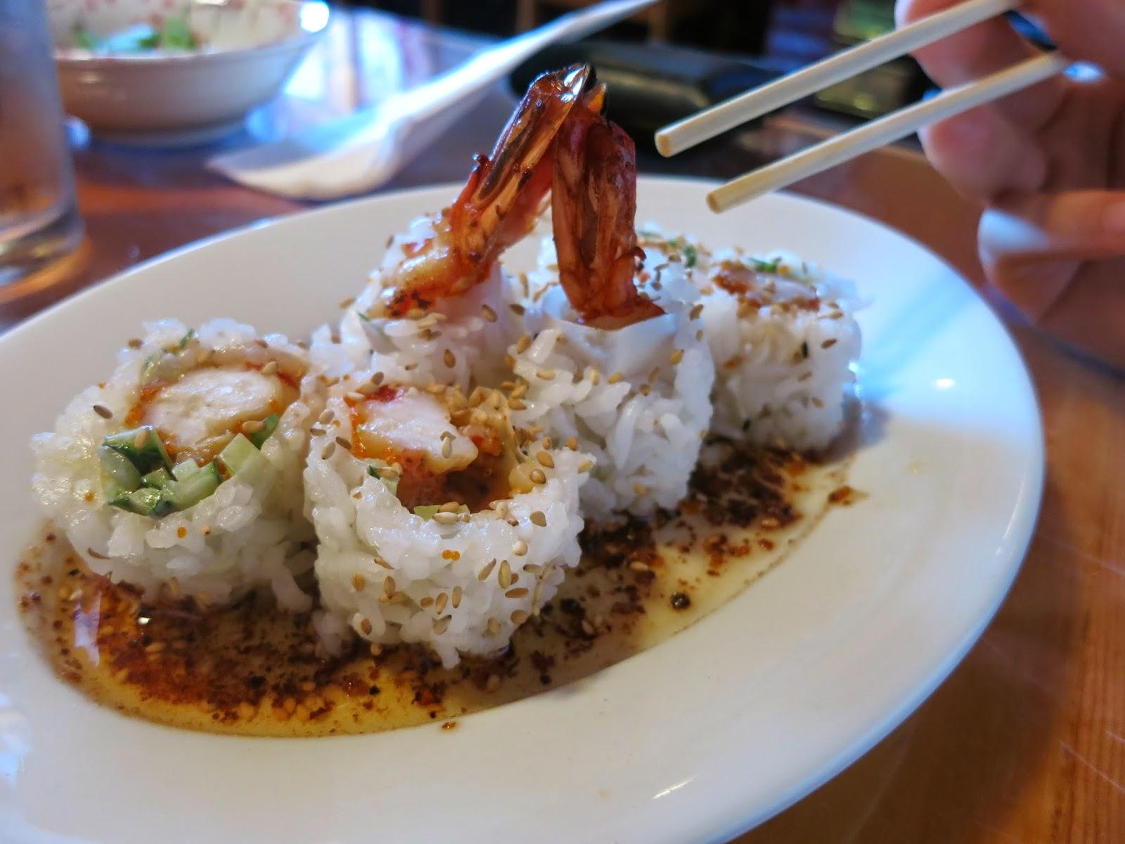 garlic prawn rolls sushi