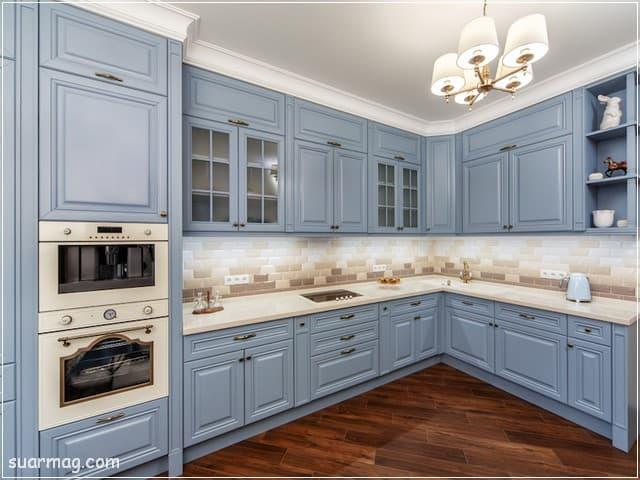 اشكال مطابخ خشب 12   wood kitchens shapes 12