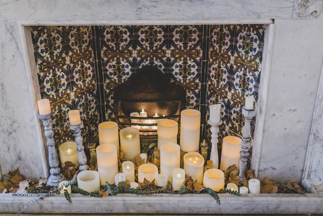 decoracion con velas - editorial boda de invierno