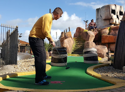 At Treasure Island Adventure Golf in Southsea