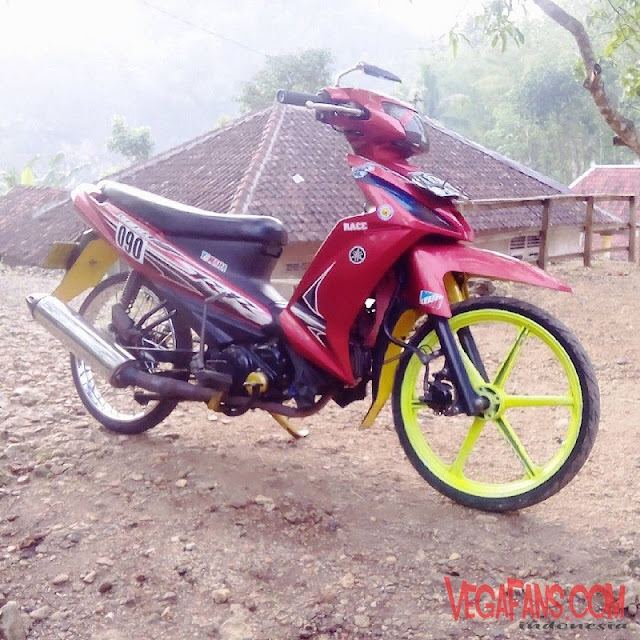 Modifikasi Vega RR Merah Modif Racing Simple