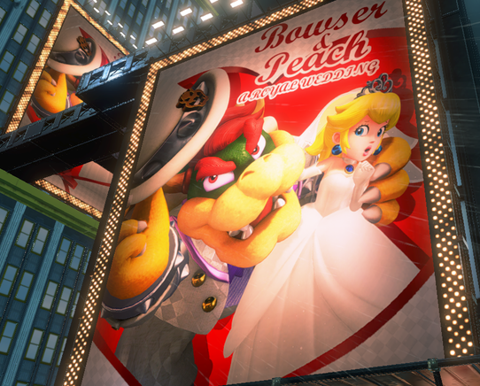 Super Mario Odyssey King Bowser Koopa Princess Peach A Royal Wedding poster
