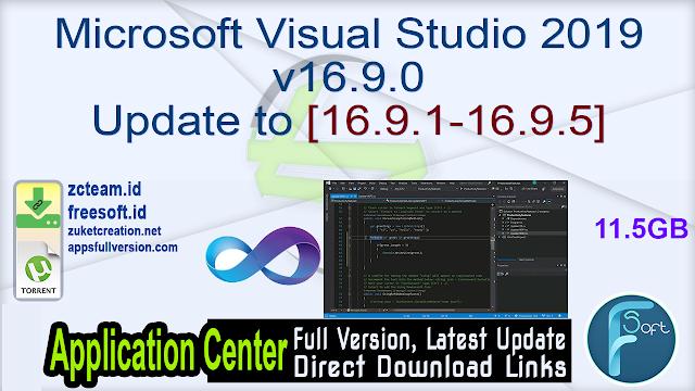 Microsoft Visual Studio 2019 v16.9.0 Update to [16.9.1-16.9.5]