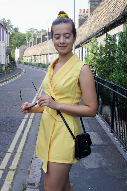 KatchMe yellow belted playsuit review