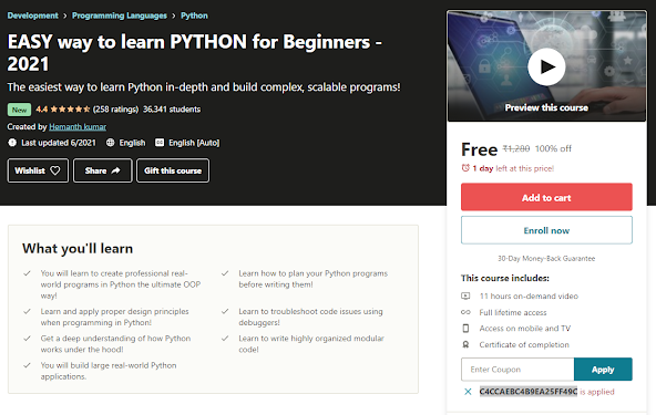 Free Udemy Courses with Coupons