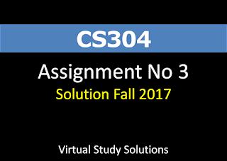CS304 Assignment No 3 Solution fall 2017