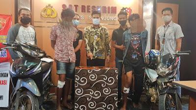 Kurang 24 Jam, Dua Orang Resedivis Curanmor Ditangkap Satreskrim Polres Sijunjung