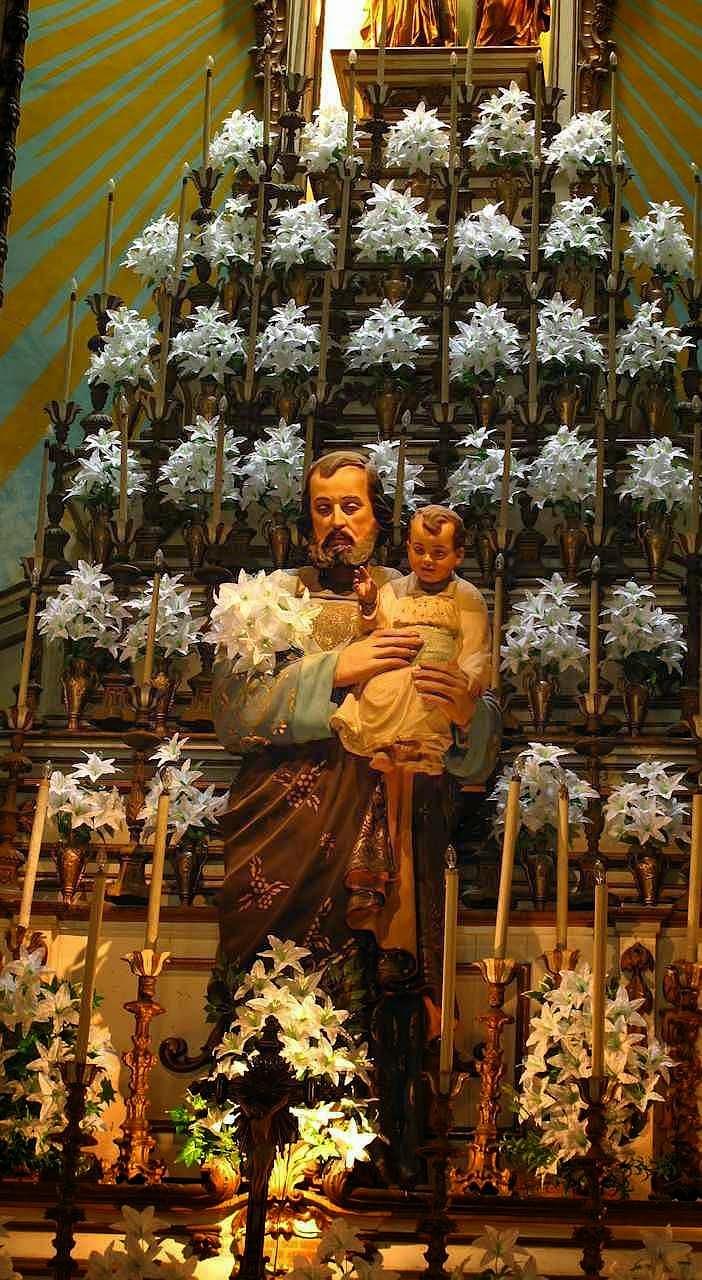 São José, altar mor da igreja de São José, Rio de Janeiro