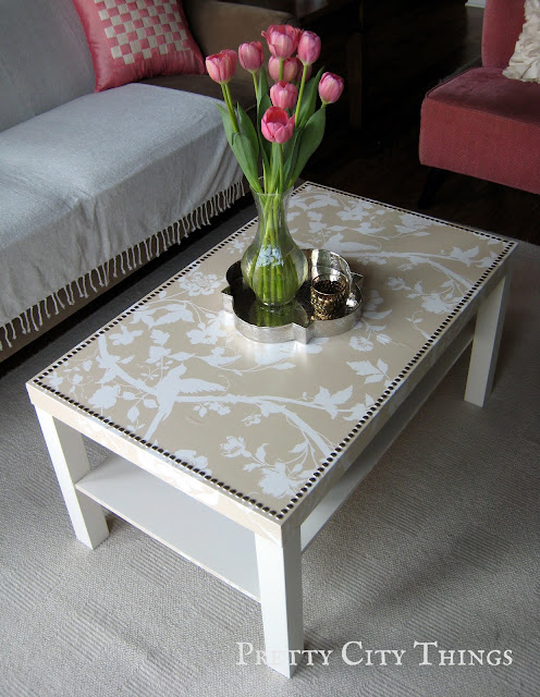 Ikea Lack hack coffee table makeover
