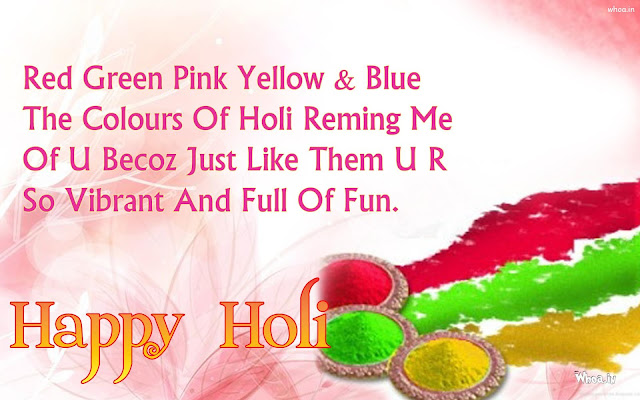 Happy Holi Messages for Whatsapp in English